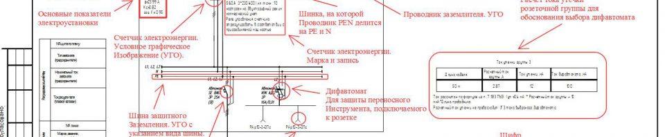 Однолинейная схема электроснабжения 15 квт 3 фазы — пример