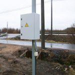 Узел учета электроустановки земельного участка мощностью 15 квт на трубостойке
