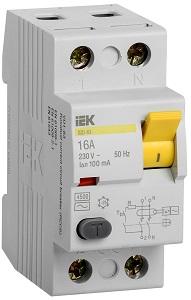 УЗО 16А 100 мА, такое можно установить на ввод электроустановки мощностью 3 кВт