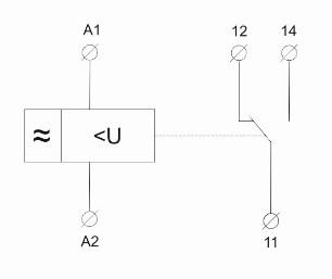 схема включения реле ORV1 и ORV2