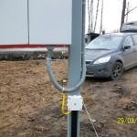 Ввод провода в щит. Подключение к заземлителю.