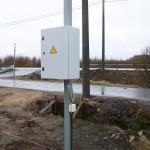Электрический щит вводного распределительного устройства земельного участка